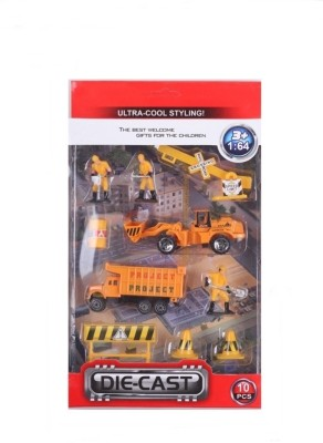 AV Shop 1:64 Die-Cast Road Contruction Set