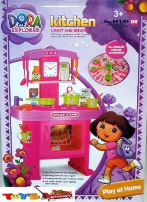 ToysBuggy Dora The Explorer Kitchen Set with Light & Sound