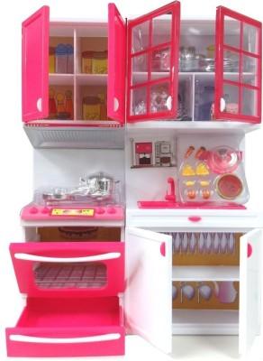 Shop shoppee barbie beautiful vogue kitchen set of 2 for Kitchen set on flipkart