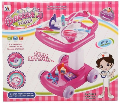 Hamleys Doctor Trolley Pink