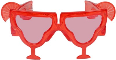 Funcart Red Mocktail Glasses