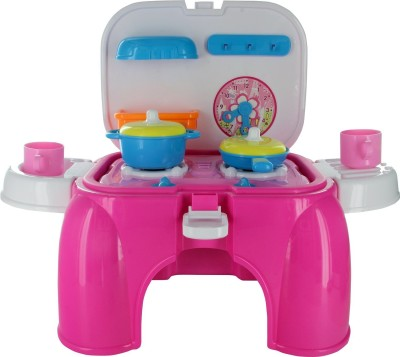 Smiles Creation Kitchen Pink Stool Playset