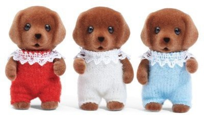 Calico Critters Critters Chocolate Lab Triplets Set