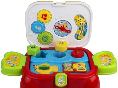 Just Toyz Carry Along Activity Play Set With Lights And Sound & Toy Storage cum Sitting Stool Kit