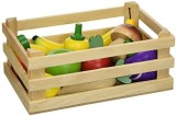 Vilac 13 Piece Wood Fruits and Vegetable...