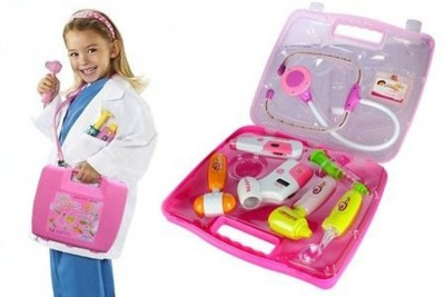 Darling Toys Battery Operated Doctor Set 8 Pcs Kit With Lights & Sound For Kids