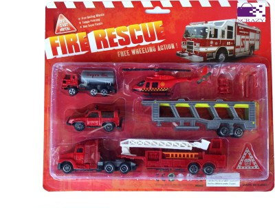 Scrazy Planet Of Toys Fire Rescue Set For Kids