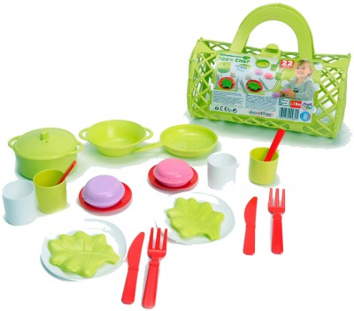 Ecoiffier Bubble Cook Bolster Bag with Tea Playset