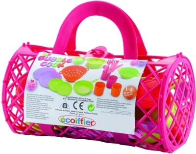 Ecoiffier Bubble Cook Bolster Bag with Tea Set