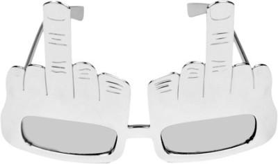 Funcart Silver Middlefinger Glasses