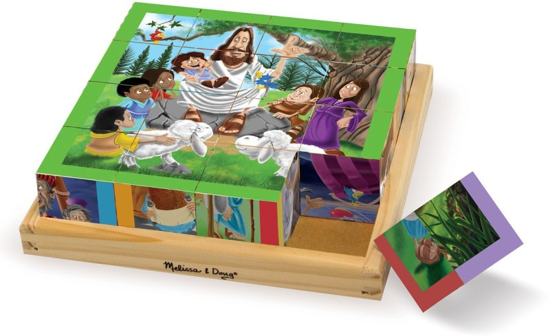 Melissa & Doug New Testament Cube Puzzle(6 Pieces)