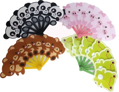 Lotus 4 Pieces Animals Hand Fan Combo Pack