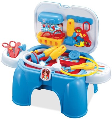 Building Mart Brand New 2 In 1 Doctors Play Set & Chair - Dentist Trunk