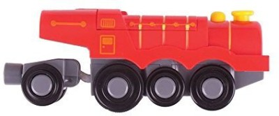 Bigjigs Toys Rail Big Red Steam Battery Operated Locomotive