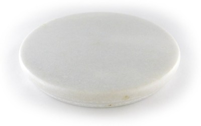 Chave Round White Marble Rolling Panel , Chakla , Roti Maker , Cheese Pastry Cake Cutting Plank 8.7 inch Diameter - Heavy Marble Kitchen Accessories Board
