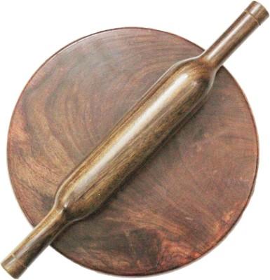 Woodpedlar 12inch Rolling Pin & Board(Brown, Pack of 1)
