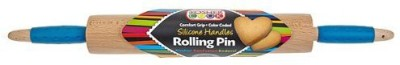 Brilliant Ideas Group LLC The Kosher Cook Kckh3207D Deluxe 17Inch Wood Rolling Pin For Dairy With Silicone Ergo Handles