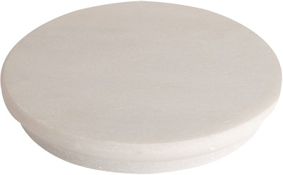Metrocraft Marble Chakla (Ring Bottom) Board(White, Pack of 1)