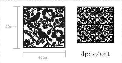 Planet Decor Plastic Decorative Screen Partition(Hanging, Finish Color - Black)