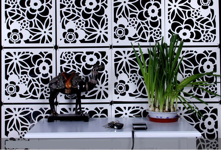 View Planet Decor Plastic Decorative Screen Partition(Hanging, Finish Color - White) Furniture (Planet Decor)
