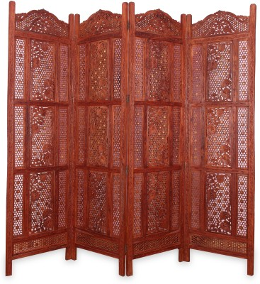 Onlineshoppee Solid Wood Decorative Screen Partition