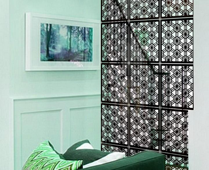 View Planet Decor Plastic Decorative Screen Partition(Hanging, Finish Color - Black) Furniture (Planet Decor)