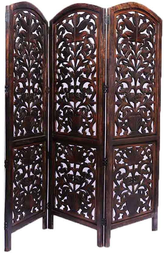 View Aarsun Woods Engineered Wood Decorative Screen Partition(Free Standing, Finish Color - Brown) Furniture (Aarsun Woods)