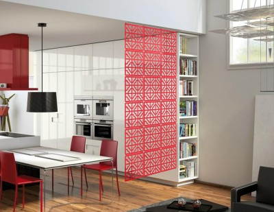 Planet Decor Plastic Decorative Screen Partition(Hanging, Finish Color - Red)