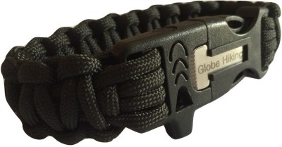 Globe Hiking Paracord Bracelet Survival With Buckle Clip/Whistle/Flint Knife 3 m x 0.5 mm