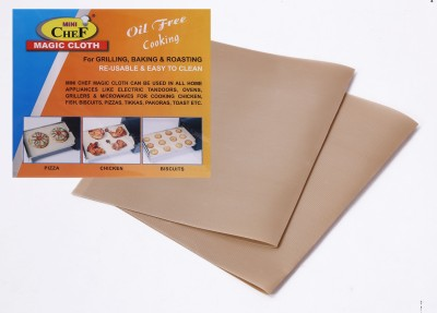 MINI CHEF Magic Cloth (2PC) Solid Roti Flap Cover(Beige)