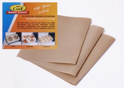 MINI CHEF Magic Cloth (3PC) Solid Roti Flap Cover(Beige)