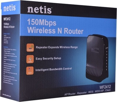 Netis WF2412 150Mbps Wireless N 4 Port Router with WPS Button and Multiple AP