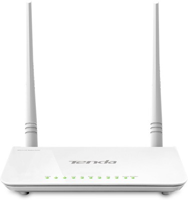 Tenda TE D-303 N300 ADSL2+ Modem Router with USB port Router(White)