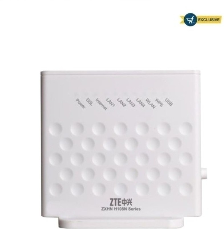 ZTE H108N - 300 Mbps Wireless N ADSL Modem(White)