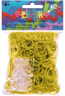 Choon's Design Official Rainbow Loom- Olive Green Color-600 Pcs Count Bands Latex-free Rubber Band