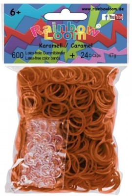Choon's Design Official Rainbow Loom - Caramel Color- 600 Pcs Count Bands Latex-free Rubber Band
