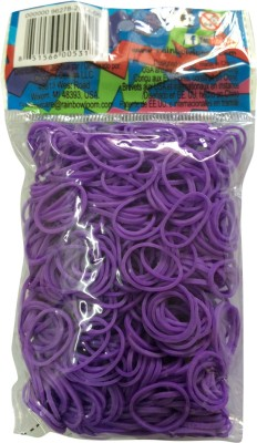 Choon's Design Official Rainbow Loom Purple Color- 600 Pcs Count Rubber Band(Pack of 1)