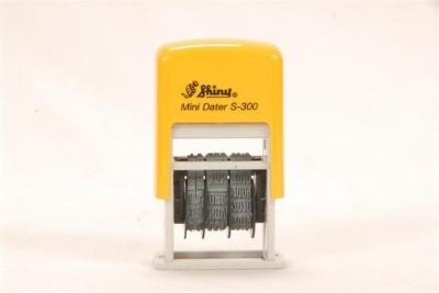 Smart Stamp Shiny Self-Ink Dater Stamp(3 mm, Black)
