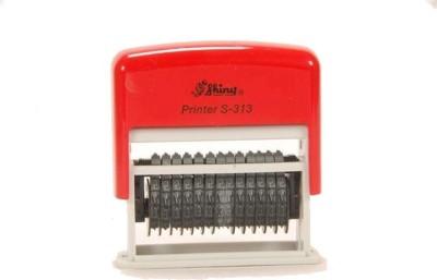 Smart Stamp Shiny Self-Ink Numbering 13 Digit(3 mm, Black)