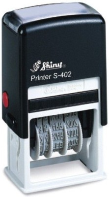 Shiny Self ink Dater with RECEIVED message and signature space S-402 Pre-inked Stamp(Medium, Black)