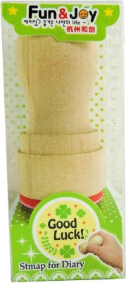 Klassik Good Luck Handle Rubber Stamp(Small, Green)