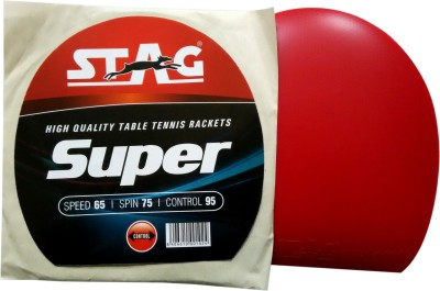 Stag Super 1.8 mm Table Tennis Rubber(Red)