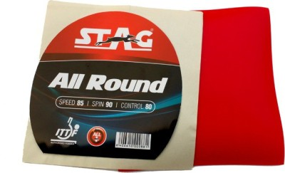 Stag All Round 2 mm Table Tennis Rubber(Red)