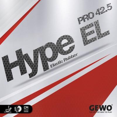 GEWO GEWO HYPE EL PRO 42.5 BLACK 2.1 mm Table Tennis Rubber