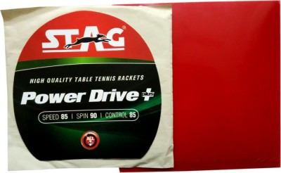 Stag Power Drive Plus 1.8 mm Table Tennis Rubber(Red)