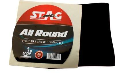 Stag All round 1.8 mm Table Tennis Rubber(Black)