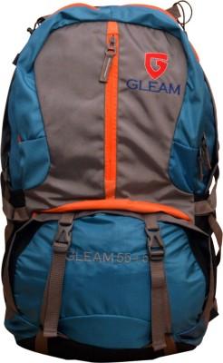 Gleam Climate Proof Trekking / Hiking Rucksack - 60 L(Blue)