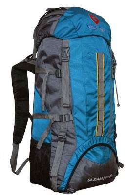 Gleam 2209 Climate Proof Mountain Campaign / Hiking / Trekking Bag / Backpack 75 ltrs Sky Blue & Grey with RAIN COVER Rucksack - 75 L(Blue)