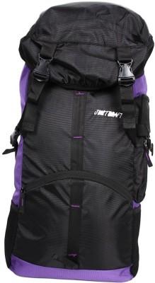 Justcraft Rocky Black and Lite Purple Trekking Rucksack - 45 L(Purple)