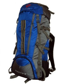 Gleam 2209 Climate Proof Mountain Campaign / Hiking / Trekking Bag / Backpack 75 ltrs Royal Blue & Grey Rucksack  - 75 L(Blue)